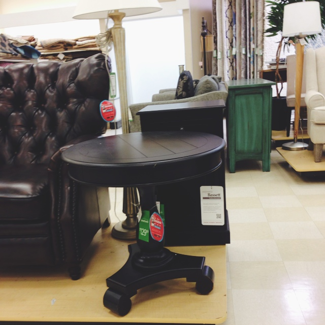 The homegoods mobile application espresso side table for Home goods mobile