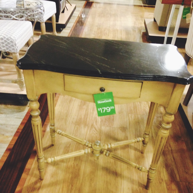 The homegoods mobile application entry way table for Home goods mobile