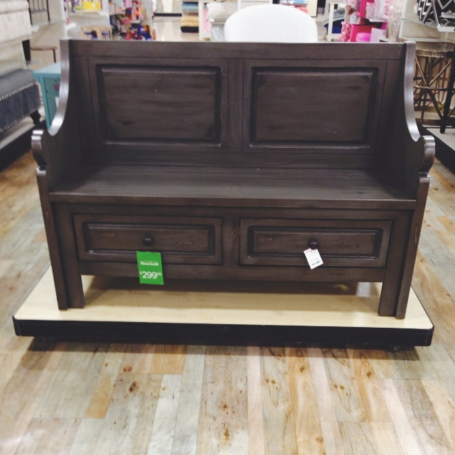 The homegoods mobile application wooden bench for Home goods mobile