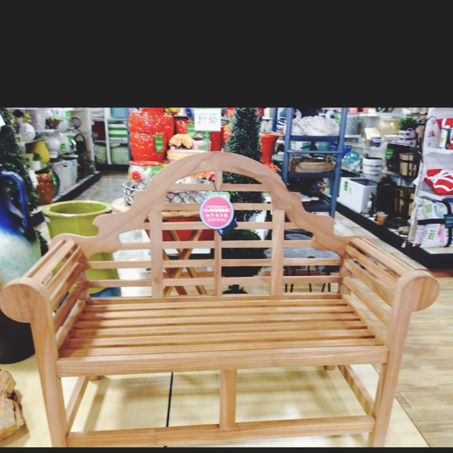 The homegoods mobile application teal wood bench for Home goods mobile